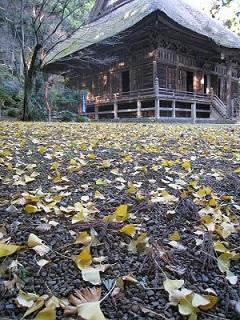 千葉山 智満寺(本堂と銀杏)