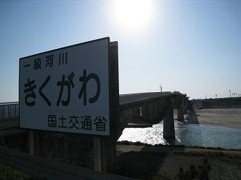 一級河川「菊川」看板