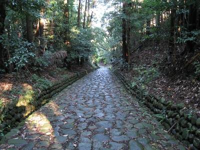 旧東海道金谷坂の石畳