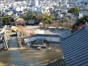 掛川城(天守から望む)