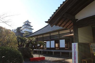 御殿と掛川城