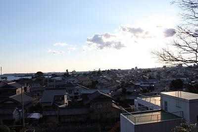 虚空蔵山(焼津市方面を望む)