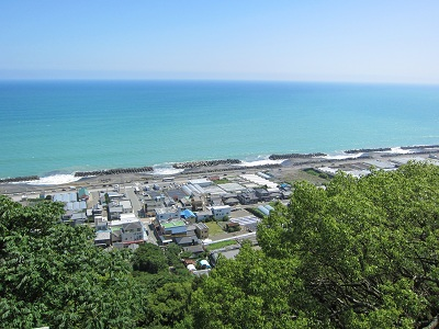 久能山東照宮から望む久能海岸