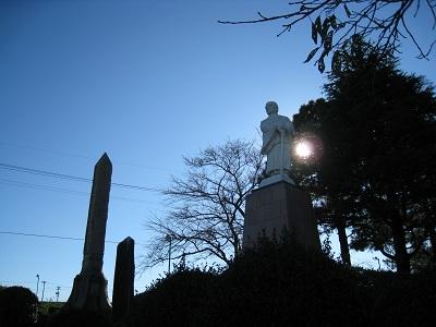 牧之原公園(栄西禅師像)