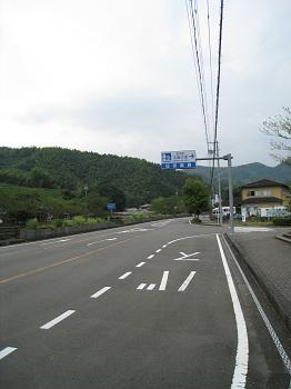 道の駅 玉露の里(前面道路)