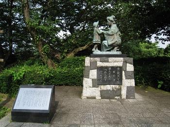 日本平(赤い靴の銅像)