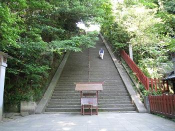 静岡浅間神社(賤機山への階段)