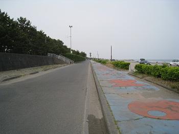 静波海岸(堤防内道路)