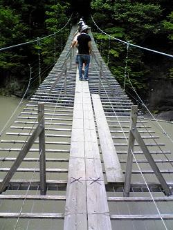 寸又峡(夢のつり橋)