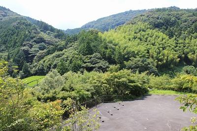 滝ノ谷不動峡(展望広場からの眺め)