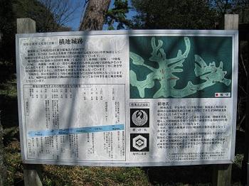 横地城跡(看板)