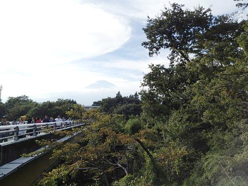 御殿場アウトレットと富士山