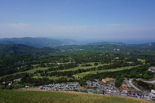 大室山(山頂からの景色)