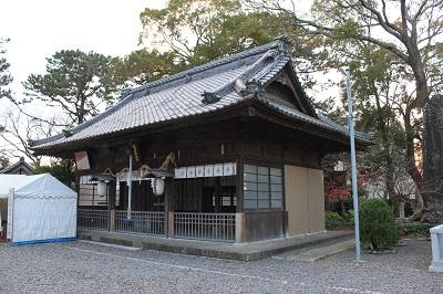 焼津神社(本殿となり)