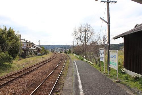 遠江一宮駅(ホーム・天竜二俣駅方面)