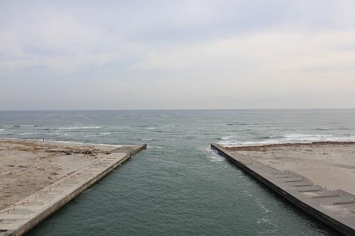 潮騒橋から望む海