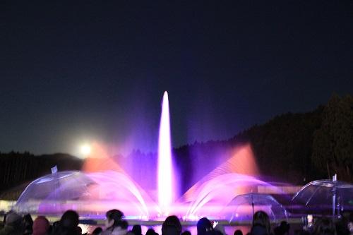 噴水レーザーショー『ヴェルサイユの光』(御殿場高原時之栖)