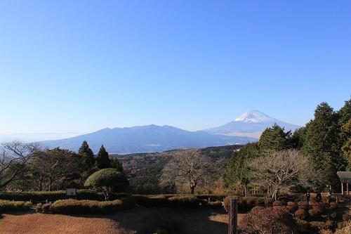 山中城から見る富士山