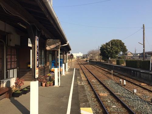 ホーム(天浜線桜木駅)