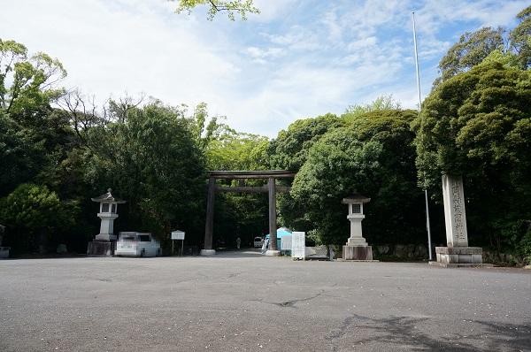西側鳥居(靜岡縣護國神社)
