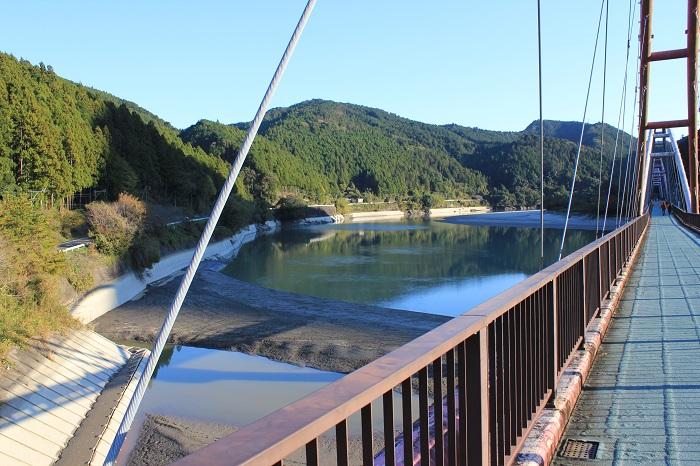 道の駅「花桃の里」(夢のかけ橋から天竜川を望む)
