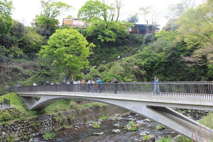 白糸の滝に架かる橋