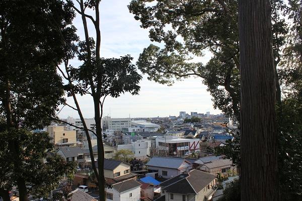 南側景色(岡出山公園)
