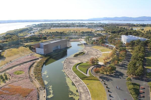浜名湖ガーデンパーク(展望塔からガーデンパークを望む)