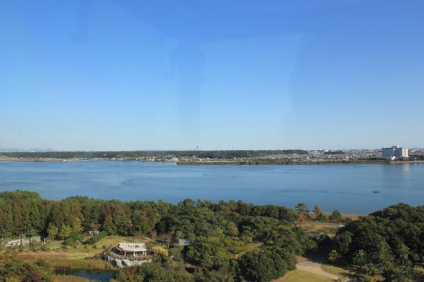 浜名湖ガーデンパーク(展望塔から浜松市街地を望む)