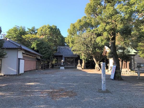 家康御陣場跡(八幡神社本殿遠景)