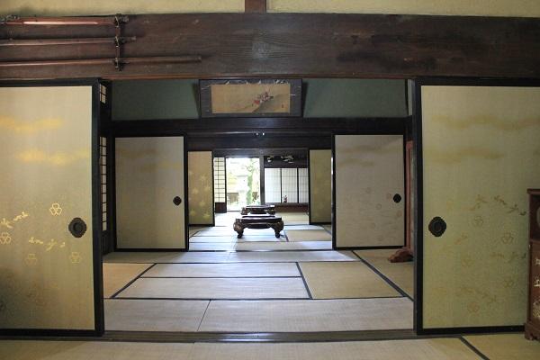 加茂荘花鳥園(庄屋屋敷の畳部屋)